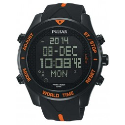 Pulsar Mens Alarm Chronograph Strap Watch PQ2037X1