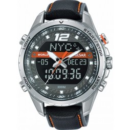 Pulsar Mens Orange Black Accelerator Watch PZ4029X1