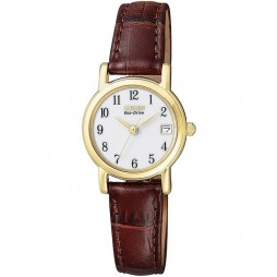 Citizen Ladies Brown Leather Strap Watch EW1272-01A