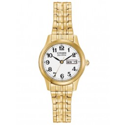 Citizen Ladies Gold Coloured Expandable Watch EW3152-95A