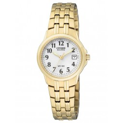 Citizen Ladies Silhouette Gold Tone Bracelet Watch EW1542-59A