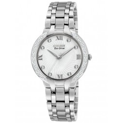 Citizen Ladies Bella Diamond White Dial Bracelet Watch EM0120-58A