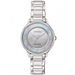 Citizen Ladies Circle Of Time Mother of Pearl Diamond Bracelet Watch EM0380-81N