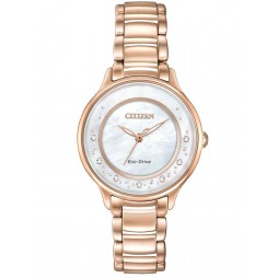 Citizen Ladies CITIZEN L Circle Of Time Diamond Rose Tone Bracelet Watch EM0382-86D
