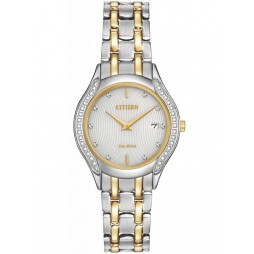 Citizen Ladies Carina Diamond Two Tone Bracelet Watch GA1064-56A