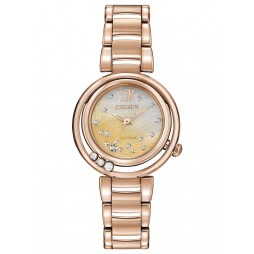 Citizen Ladies CITIZEN L Sunrise Diamond Rose Tone Bracelet Watch EM0323-51N