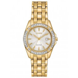 Citizen Ladies Silhouette Crystal Two Tone Bracelet Watch EW2352-59P