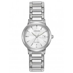 Citizen Ladies Silver Tone Bracelet Watch EW2370-57A