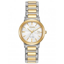 Citizen Ladies Eco-Drive Two Tone Bracelet Watch EW2374-56A