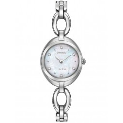Citizen Ladies Round Crystal Watch EX1430-56D