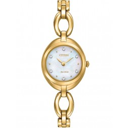 Citizen Ladies Round Crystal Watch EX1432-51D