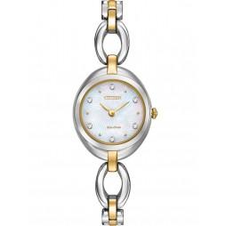 Citizen Ladies Round Crystal Watch EX1434-55D