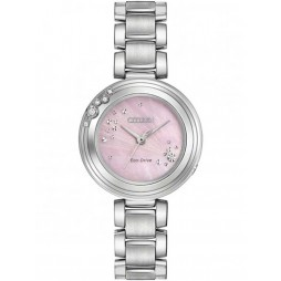 Citizen Ladies Eco-Drive L-Carina Diamond Bracelet Watch EMO460-50N