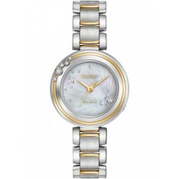 Citizen Ladies CITIZEN L Carina Diamond Two Tone Bracelet Watch EM0464-59D