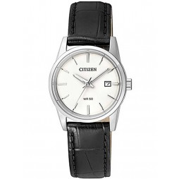 Citizen Ladies Quartz Leather Strap Watch EU6000-06A