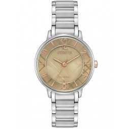 Citizen Ladies Silhouette Caramel Dial Stainless Steel Bracelet Watch EM0526-88X