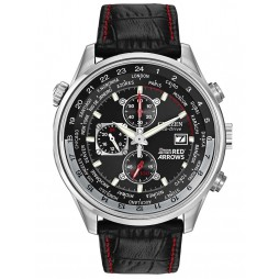 Citizen Mens Chronograph Red Arrows Black Leather Strap Watch CA0080-03E