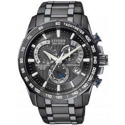 Citizen Mens PCAT Sapphire Black Bracelet Watch AT4007-54E