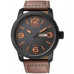 Citizen Mens Brown Strap Watch BM8475-26E