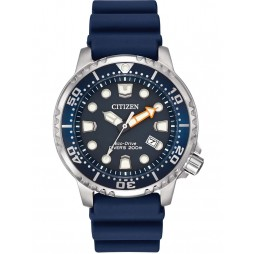 Citizen Mens Promaster Diver Blue Rubber Strap Watch BN0151-09L