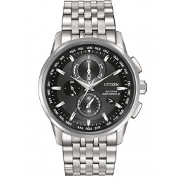 Citizen Mens World Chronograph Bracelet Watch AT8110-53E