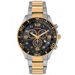 Citizen Mens Two Tone Chronograph Watch AT2124-51E