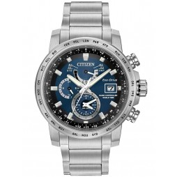 Citizen Mens World Time A-T Bracelet Watch AT9070-51L