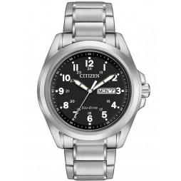 Citizen Mens Eco-Drive Black Dial Watch AW0050-82E