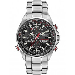 Citizen Mens Stainless Steel Red Arrow Chronograph Watch AT8060-50E