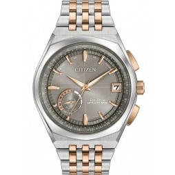 Citizen Mens Satellite Wave Two Tone Bracelet Watch CC3026-51H