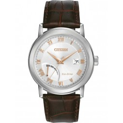 Citizen Mens PRT Brown Leather Bracelet Watch AW7020-00A