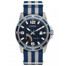 Citizen Mens Eco-Drive Power Reserve Strap Watch AW7038-04L