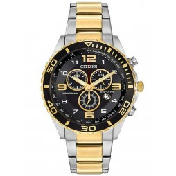 Citizen Mens Eco-Drive Chronograph Bracelet Watch AT2124-51E