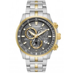 Citizen Mens Eco-Drive PCAT Two Tone Bracelet Watch AT4124-51H