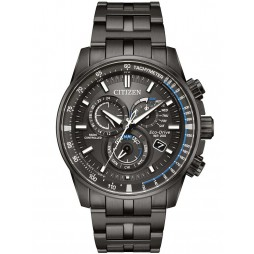 Citizen Mens Eco-Drive PCAT Gunmetal Bracelet Watch AT4127-52H
