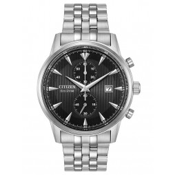 Citizen Mens Eco-Drive Black Chronograph Watch CA7000-55E