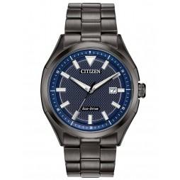 Citizen Mens WDR Denim Blue Dial Grey Bracelet Watch AW1147-52L