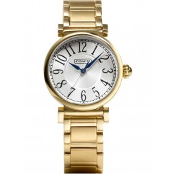 Coach Ladies Gold Steel Bracelet Madison Watch 14501720