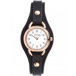 Coach Ladies Black Leather Cuff Dree Watch 14502030