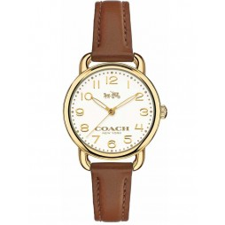 Coach Ladies Delancey Brown Strap Watch 14502248