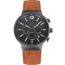 Obaku Mens Black Storm Guntan Watch V180GCUURZ