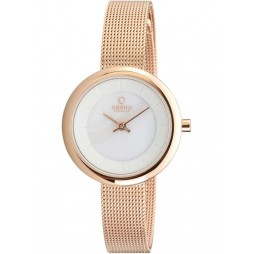 Obaku Ladies Rose Gold Plated Bracelet Watch V146LXVWMV
