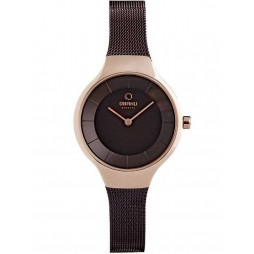 Obaku Ladies Bronze Tone Mesh Bracelet Watch V166LXVNMN