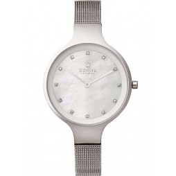 Obaku Ladies Mother of Pearl Mesh Bracelet Watch V173LXCIMC