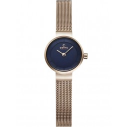Obaku Ladies Rose Gold Plated Mesh Bracelet Watch V199LXVLMV