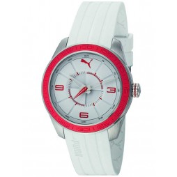 Puma Unisex Slice White Strap Watch PU102972004