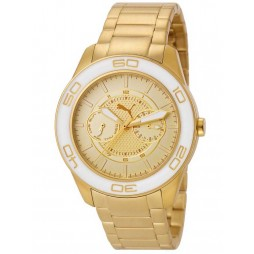 Puma Mens Tube Gold Plated Bracelet Watch PU102982002