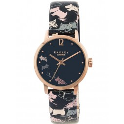 Radley Ladies Mini Dogs Leather Strap Watch RY2272