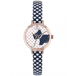 Radley Ladies Rose Gold Plated Blue Heart Strap Watch RY2378