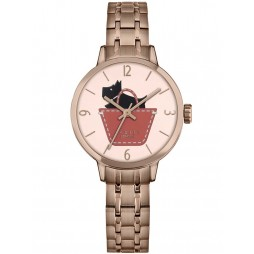 Radley Ladies Border Link Rose Gold Plated Bracelet Watch RY4242